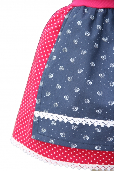 engelsgwand dirndl rock tonia pink und blau. Black Bedroom Furniture Sets. Home Design Ideas